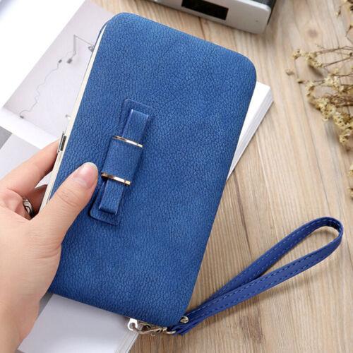Damenbörse Geldbörse Portemonnaie Geldbeutel Portmonee Leder Handy Brieftasche