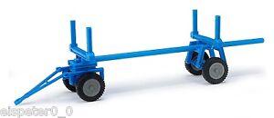 Busch-Mehlhose-210009402-Timber-Trailer-Blue-H0-Car-Model-1-87