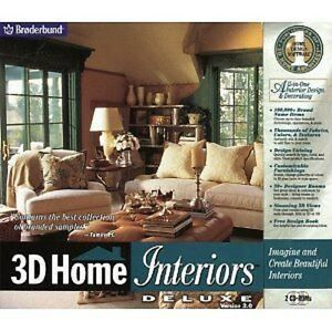 Details About New 3d Home Interiors Deluxe 2 0 Interior Decorating Software In 3d