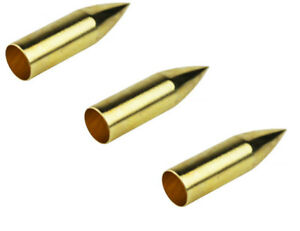 12 x Tophat Classic Screw Top Bullet Made of Brass for Wooden Arrows Points