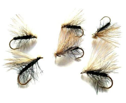 Elk Hair Caddis Black Sedges Still Water River Trout Fly Fishing Dry Flies