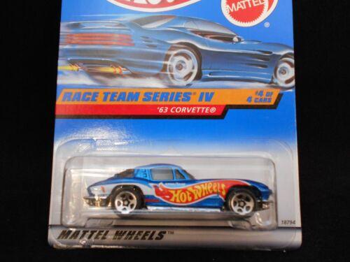HW HOT WHEELS 1998 Race Team IV série #4 63 Chevy Corvette HOTWHEELS très difficile à trouver RARE