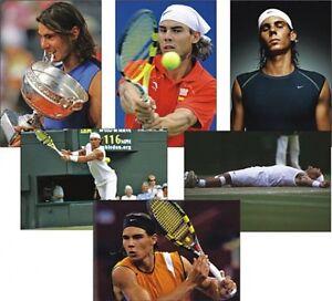 Rafa-Nadal-Tennis-Leggenda-Serie-da-6-Cartolina-Set