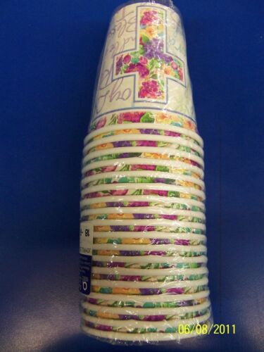 Joyful Blessings Cross Religious Party 9 oz Paper Cups