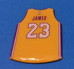 top fashion 4921c 4184d Details about LEBRON JAMES LA LAKERS #23 NBA TEAM JERSEY SHIRT MAGNET