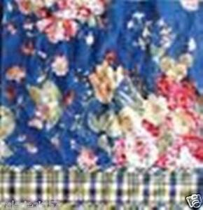 Image Is Loading Waverly Garden Room Blue Floral Amp Plaid Gingham