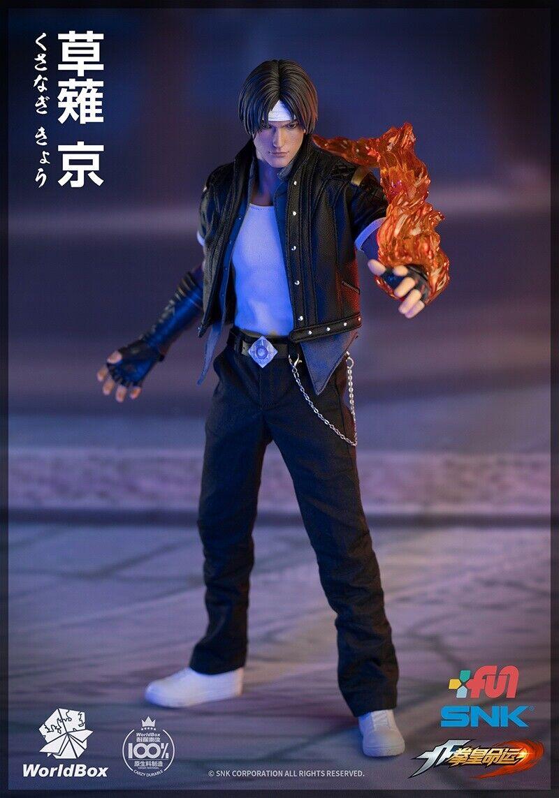 Mundo Caja KF007 KOF The King Of Fighters Kyo Kusanagi con 2 cabezas 1 6 figura