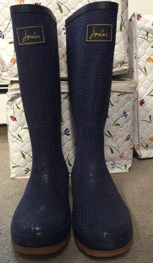 Joules botas Lluvia Welly para mujer botas De Lluvia De Goma Azul Hebilla De Serpiente Talla US10  nuevo con etiquetas