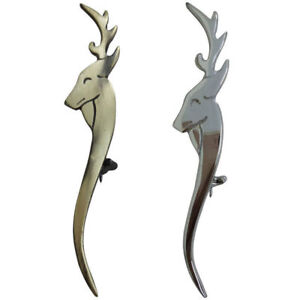 Bien Hw Écossais Kilt Pins Divers Design Stag Head Antique/finition Chrome Celtique Broche-afficher Le Titre D'origine