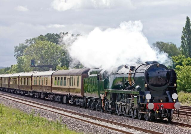 Father's Day Blank Card - Full Steam Ahead Train  Fast Despatch FREE Post!