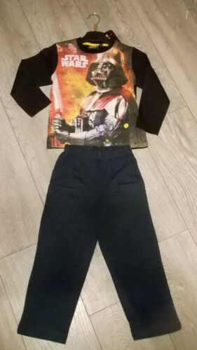 STAR Wars Darth Vader Nightwear Pigiama Sleepwear Nuovi Ragazzi e Ragazze Età 4