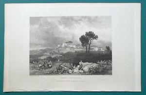 ITALY-Castel-Gandolpho-1833-Antique-Print-Engraving