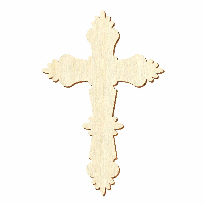 Holz Kruzifix Crucifix Kreuz - 3-50cm Höhe Streudeko Basteln Deko Tischdeko