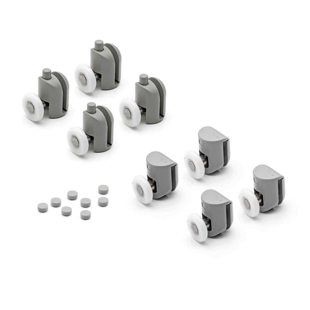 Set Set Set di 8 Porta Della Doccia Rulli Runners Ruote 19mm 23mm 25mm 27mm di diametro Mix ae3278
