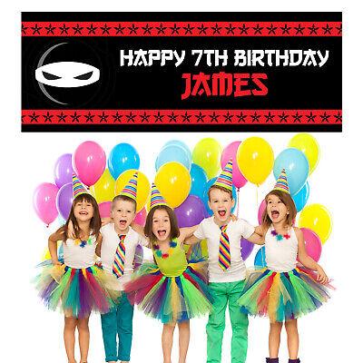 Ninja Happy Birthday Personalized Banner Party Decoration