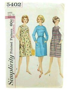 Simplicity-Vintage-1960-039-s-Bust-32-034-Dress-Jumper-Misses-Juniors-Sewing-Pattern