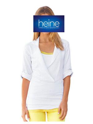 KP 49,90 € /%SALE/% Kurzarm-Pullover Heine Ecru NEU!!