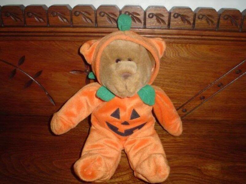 GAC 1998 Halloween Pumpkin Teddy Bear