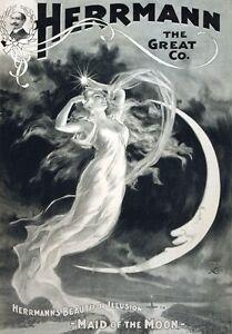 M3 Vintage 1894 Kellar Perplexing Cabinet Magic Magician Poster A1//A2//A3//A4