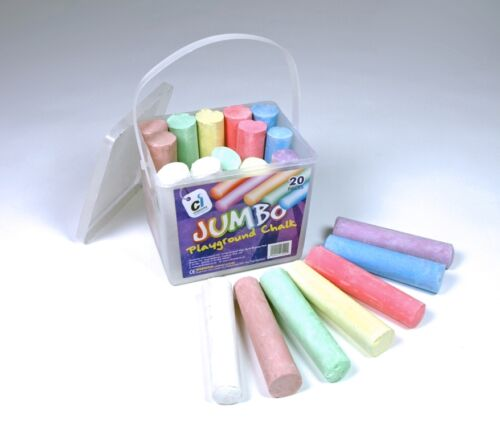 Assortiment de couleur Jumbo Playground Craie Sticks 20PCS dans un seau