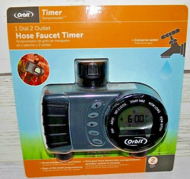 Orbit 1//2 in Automatic Sprinkler System 2-Zone In-Ground with Hose Faucet Timer