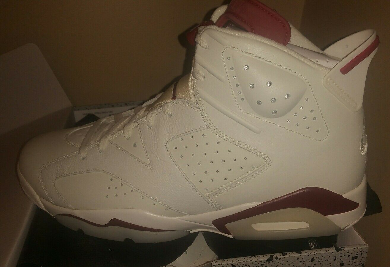 New Nike Air Jordan Retro 6 Maroon OG DS Off White Size 14 VI