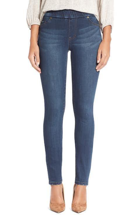 NWT LIVERPOOL 0 25 denim ankle leggings jeggings pull-on stretch petrol wash