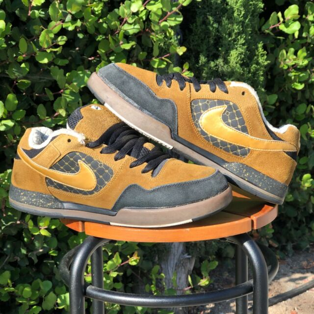 discount shop for whole family newest NIKE SB PAUL RODRIGUEZ P-ROD II 2 Zoom Air Black Brown Gold Skate dunk Size  9.5