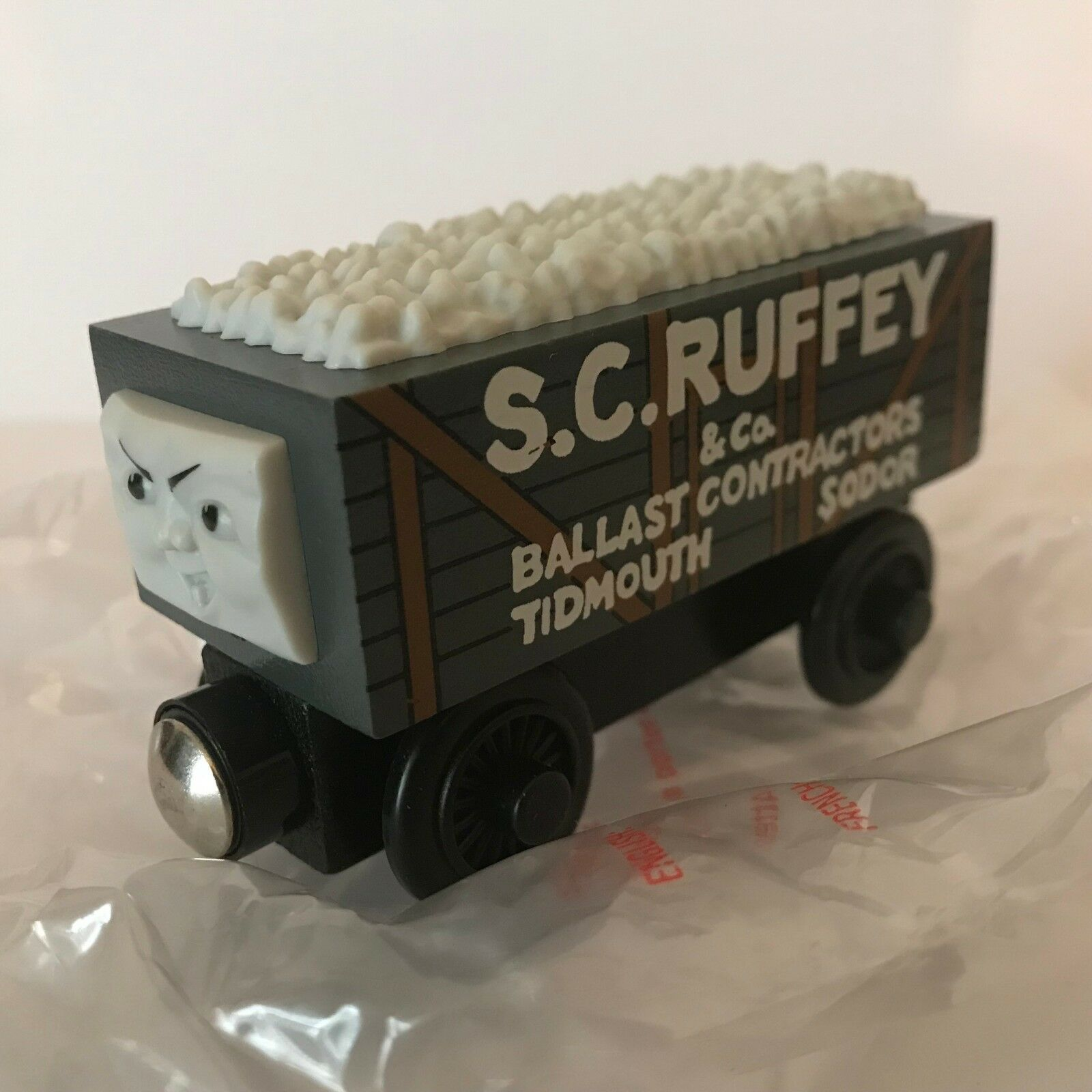 ⭐️WOODEN THOMAS The Tank Engine S.C. RUFFEY Scruffy ROT Label Learning Curve ⭐️
