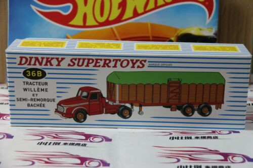 DINKY  SUPERTOYS 36B TEACTEUR WILLEME ET SEMI-REMORQUE BACHEE NEW IN BOX