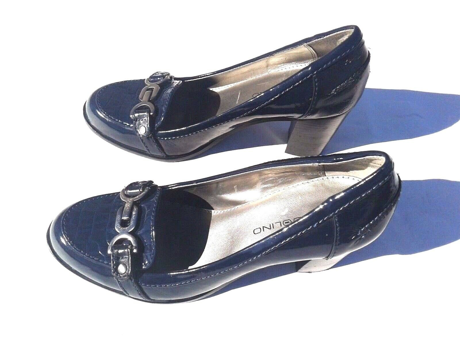 Bandolino Dada Navy bluee Patent Leather Pump shoes Size 7M
