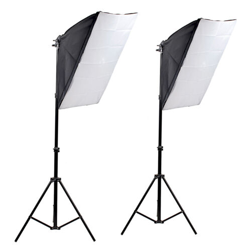 New Photography Studio Photo Video Continuous Light Soft Box Kit 1Year Warranty
