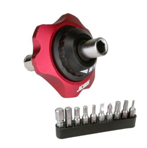 "5 COLOURS 1//4/"" Bit Hand Screwdriver Ratchet Tool 10 Bits Forward//Reverse//Lock"