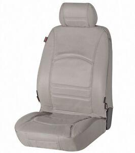 universal echt leder autositzbezug grau f r alle pkw auto. Black Bedroom Furniture Sets. Home Design Ideas