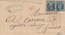 France Lettre n°22&29 Mixte Nice Alpes Maritimes pour Genes Italy cover
