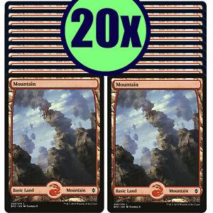 20x MOUNTAIN 269 Full Art Basic Land NM/LP MTG Magic Battle for Zendikar