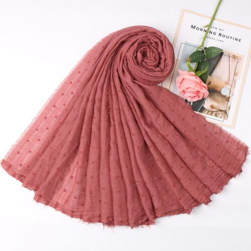 Women Ladies Floral Cotton Scarf Muslim Hijab Shawl Scarves Head Wrap 31 Colors