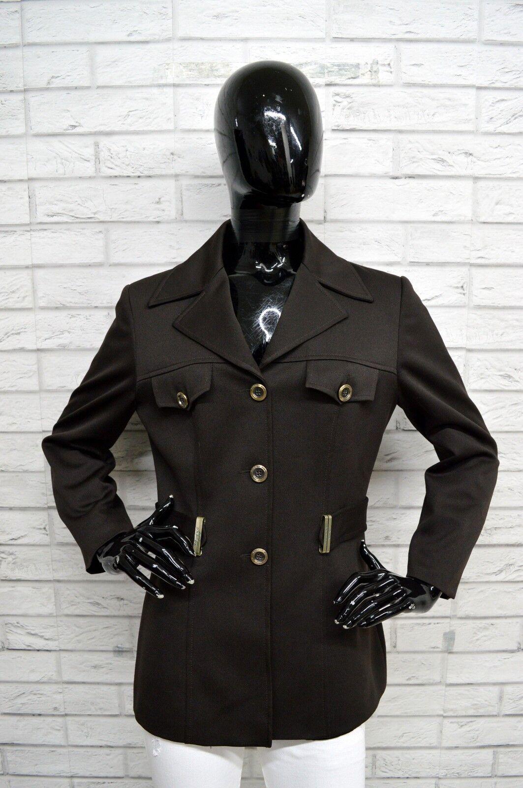 Giacca BYBLOS Donna Taglia Dimensione 44 Cappotto Giubbino Jacket Jacket Jacket Donna Coat Marronee 43456f