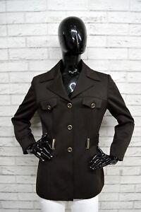 Giacca-BYBLOS-Donna-Taglia-Size-44-Cappotto-Giubbino-Jacket-Woman-Coat-Marrone