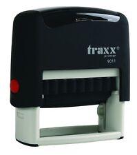 Custom Self Inking Rubber Stamp Traxx 9011 3 Line Return Address