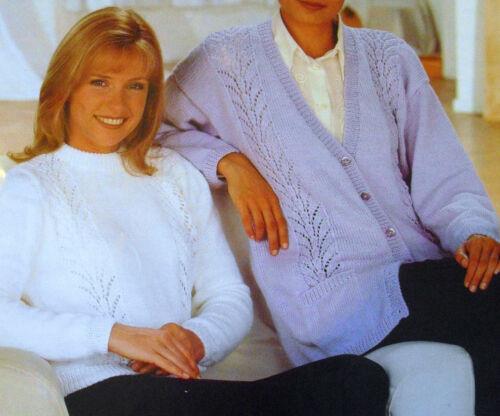 Reproduction rétro knitting patterns de cette dame jumpers tops cardigans