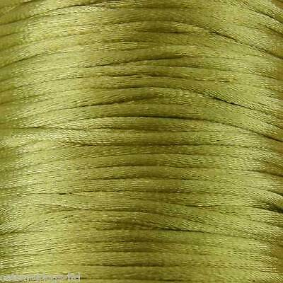 10M of Silky Satin Rattail KUMIHIMO Braiding Cord 2mm Thickness
