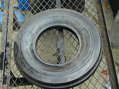 NEW! #3 Deestone Tri Rib Ribbed Front Tire 4.00-8 Tractor Lawn Mower Tire NEW!