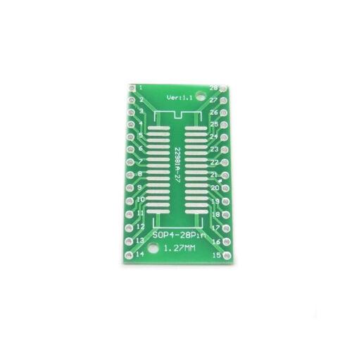 PCB SO28 SOP28 TSSOP28 MSOP28 SOT28 to DIP28 Converter Board Pin Plate Adapter
