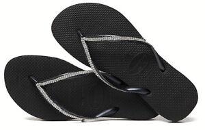 3dc294c85647b Havaianas Women`s Flip Flops Slim Crystal Mesh Black with Swarovski ...