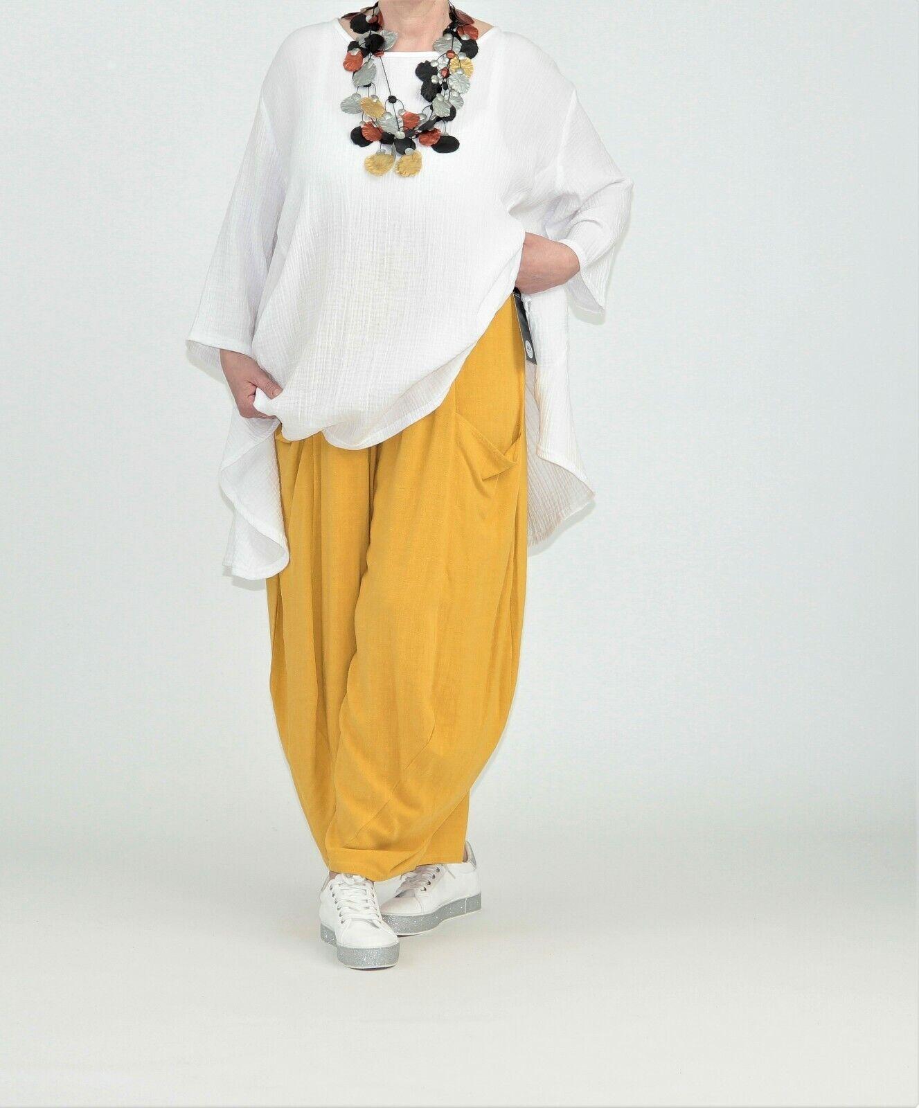 9f5ae9224e2211 ♢ 3 Farben AKH Fashion Leinen-Ballon-Hose EG 44,46,48,50,52,54 ♢  nskiop833-Hosen