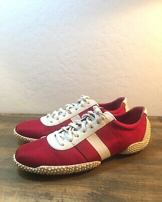 Bally Axien Fashion Sneakers Beige Red