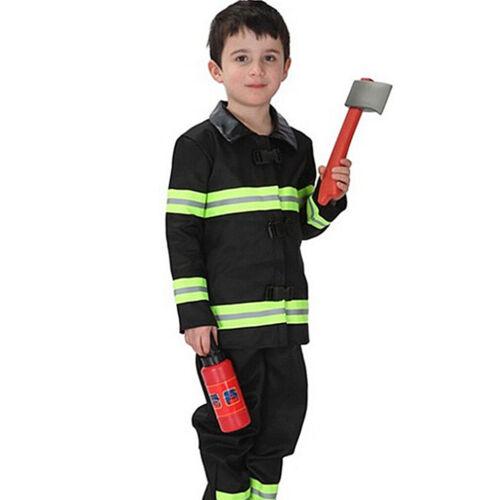 Prettyia Fireman Kids Fancy Dress Firefighter Uniform Boys Costume Outfit