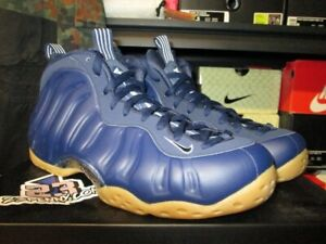 5d7148225ad SALE NIKE AIR FOAMPOSITE ONE MIDNIGHT NAVY GUM LIGHT BROWN 314996 ...