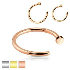 Nose-Hoop-Ring-Surgical-Steel-Rose-Gold-Various-Gauge-Diameter-Available